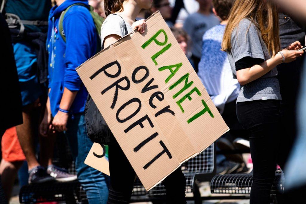 Bauer nebenan, Fridays for future, Demo Schild, Klimakrise