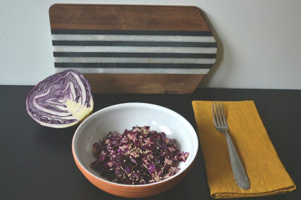 Bauer nebenan_Wintergemüse_Rezept_Rotkohl-Salat_Wintersalat zubereiten